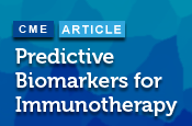 Predictive Biomarkers for Immunotherapy: Where Are we?