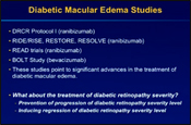 Long-term Effects of Ranibizumab on Diabetic Retinopathy Severity and Progression: Data from the RIDE/RISE Trials