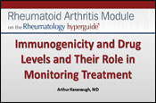 Immunogenicity and Drug Levels and their role in monitoring treatment
