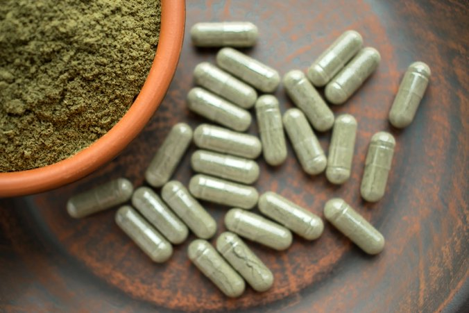 Image of the opioid substitute kratom