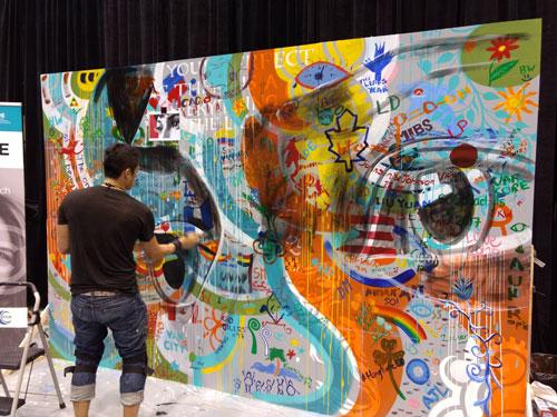 AAO mural in progress