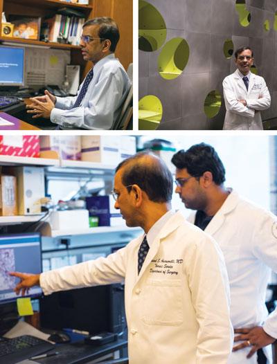 Adusumilli in lab