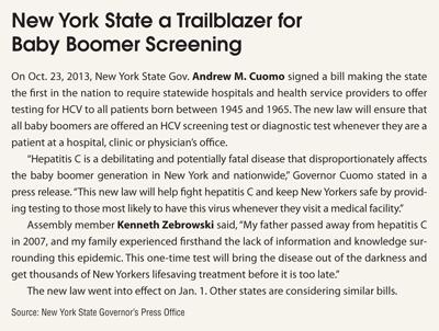 New York State a Trailblazer for Baby Boomer Screening