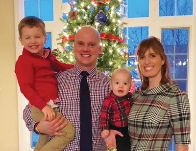 Riehl, pictured here with her family, reminds all physicians to really ask themselves 'How am I doing?' and to recognize each individual's boundaries and personal needs when answering honestly.