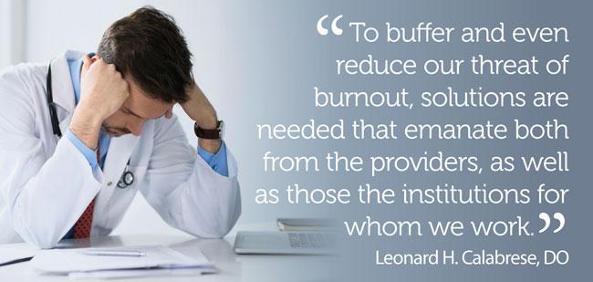 Reducing burnout