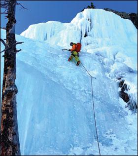 Omer Mei-Dan, MD, ice climbing