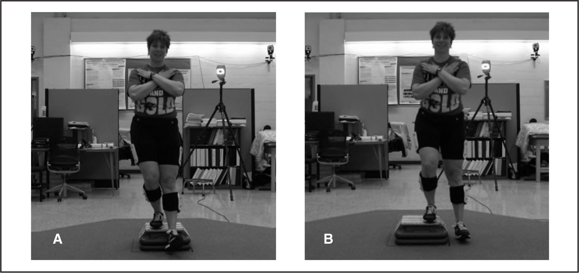 Performance of the forward and lateral step-down tasks at the 6-inch height.