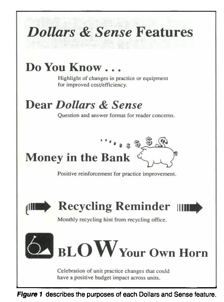 Figure 1 describes the purposes of each Dollars and Sense feature.