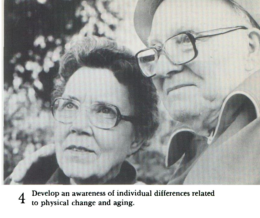 4 Develop an awareness of individual differences related to physical change and aging.