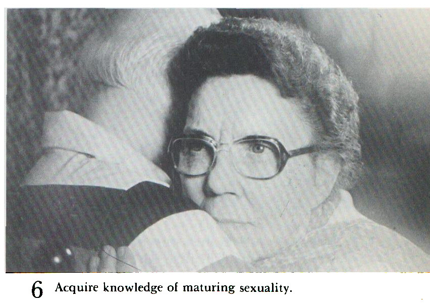 6 Acquire knowledge of maturing sexuality.