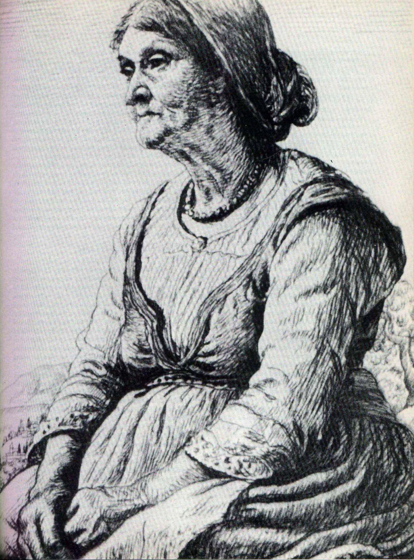 Picture (opposite page) is of an etching of a Yiddish Momme by the late Ben Silbert.