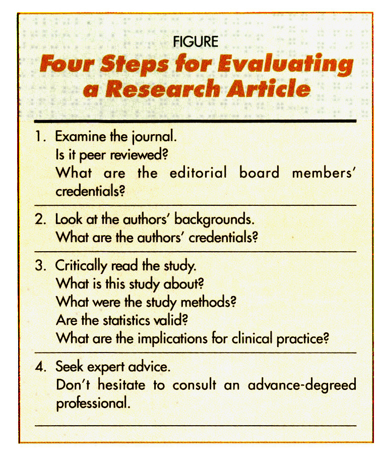 FIGUREFour Steps for Evaluating a Research Article