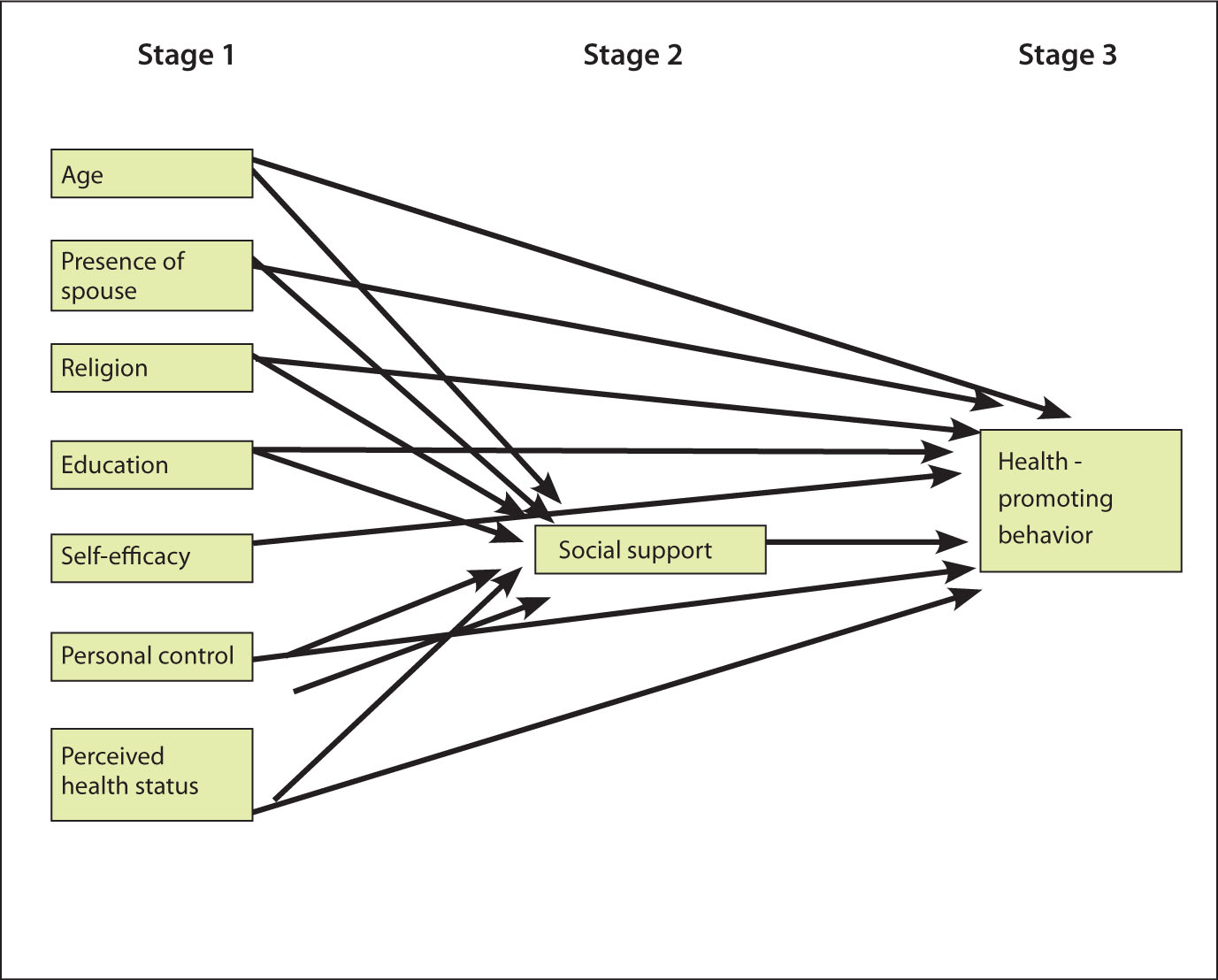 Staged Theoretical Model.