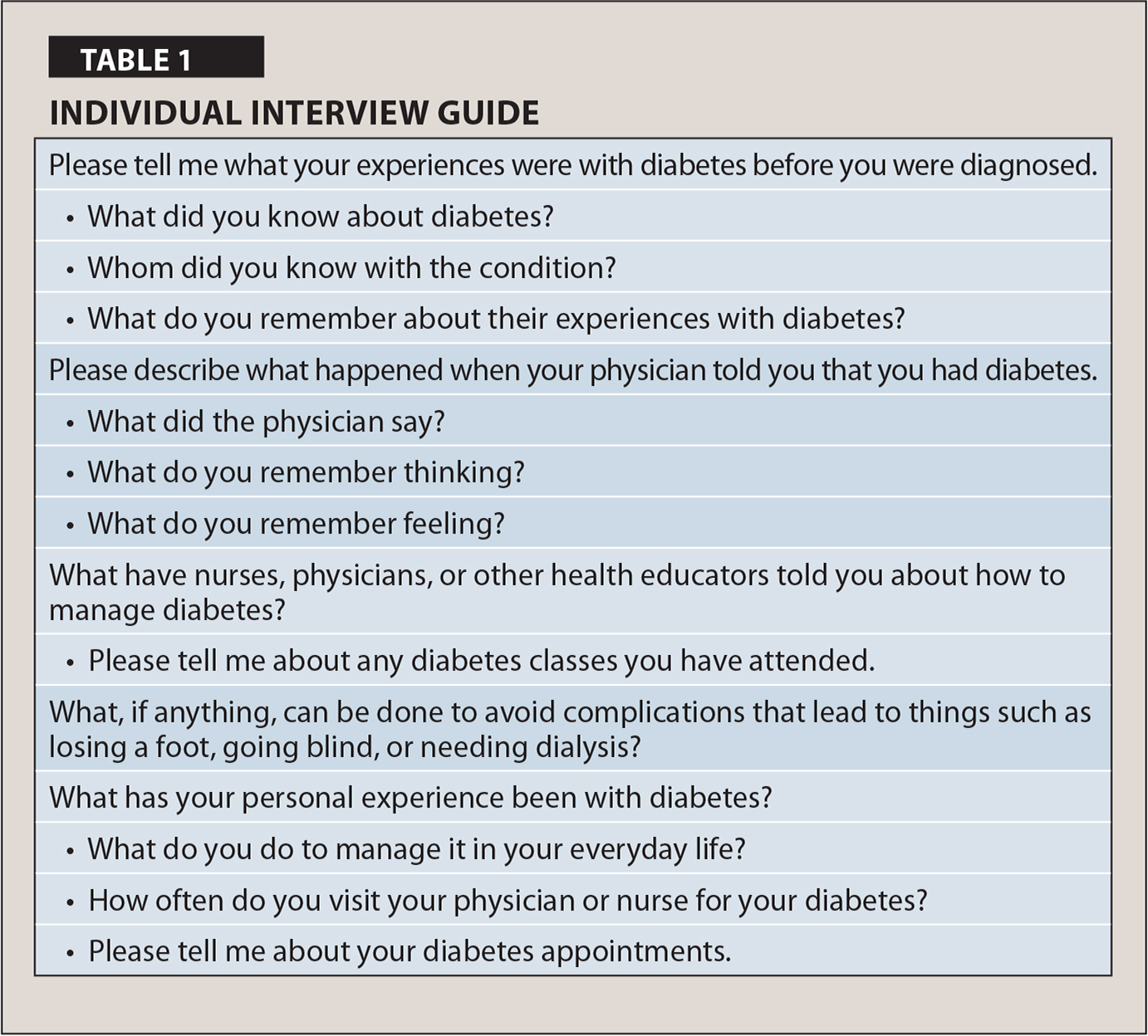 Individual Interview Guide