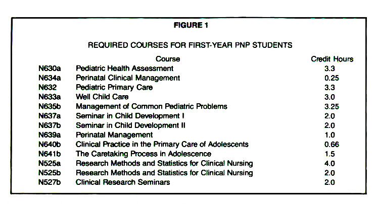 FIGURE 1REQUIRED COURSES FOR FIRST-YEAR PNP STUDENTS