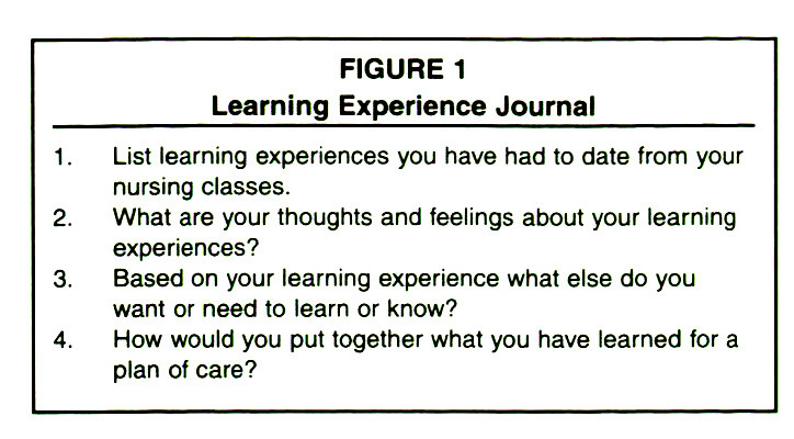 FIGURE 1Learning Experience Journal