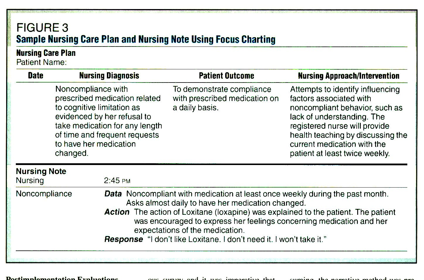 FOCUS CHARTING® in a Psychiatric Facility
