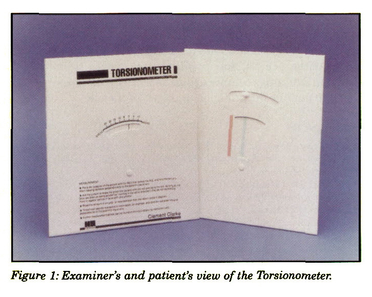 Figure 1: Examiner's and patient's view of the Torsionometer.