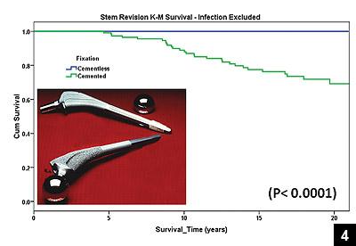 Figure 4: The Kaplan-Meier survivorship curve