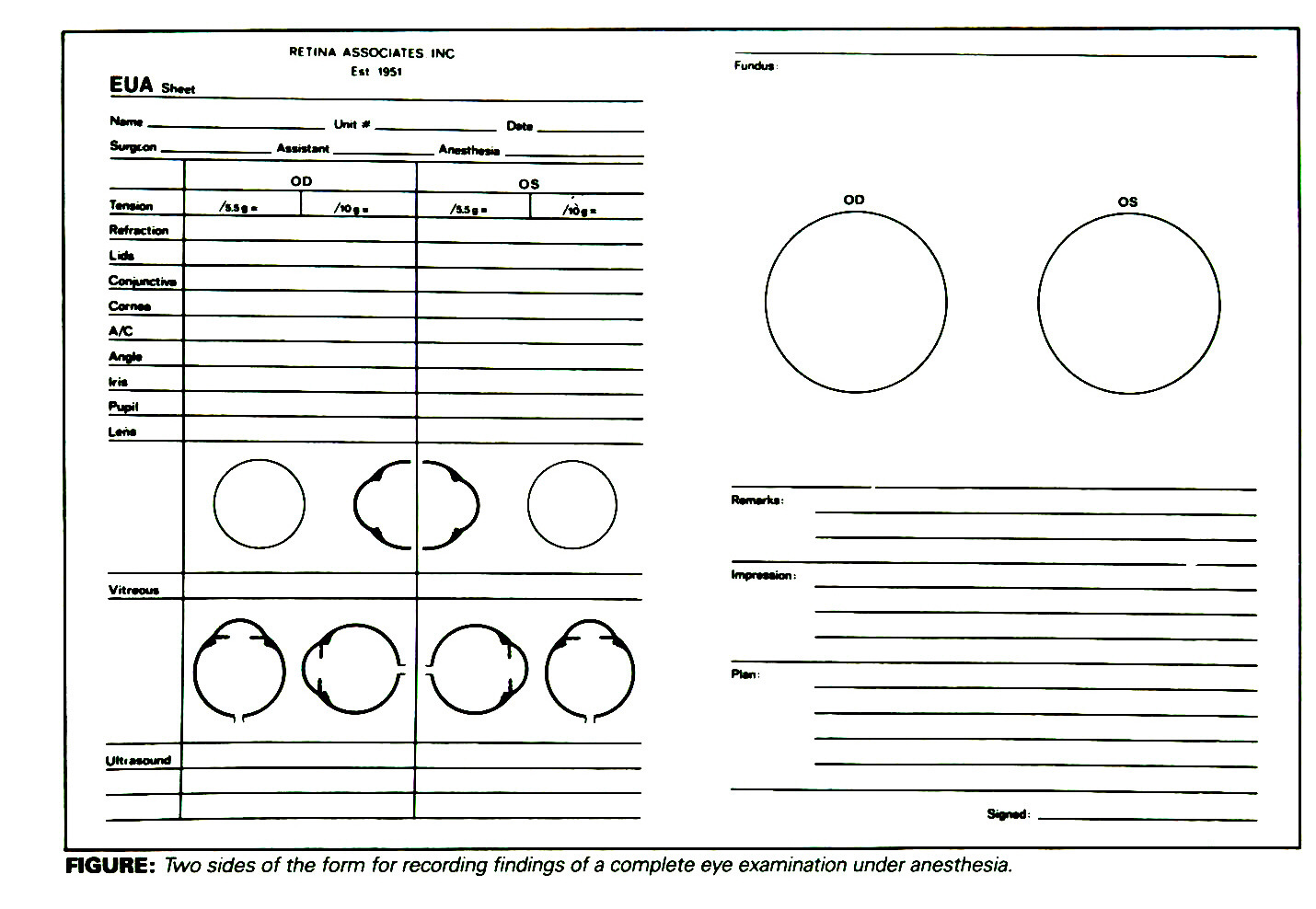 Ophthalmology Exam Form Ibovnathandedecker
