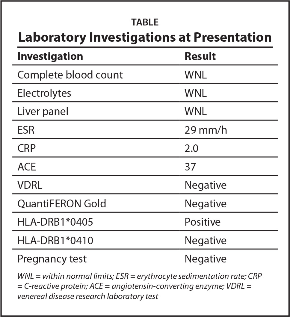 Laboratory Investigations at Presentation