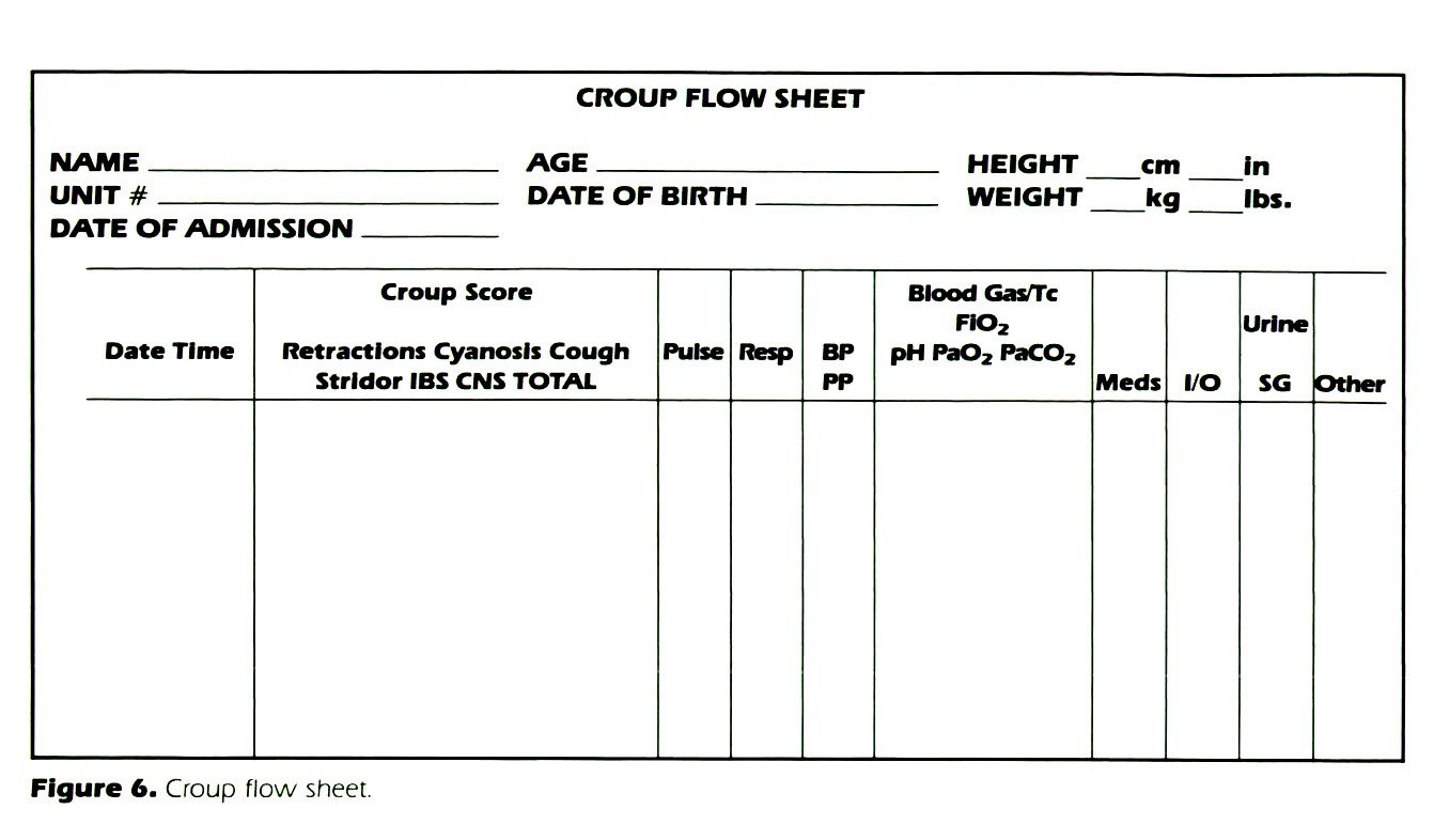 Figure 6. Croup flow sheet.
