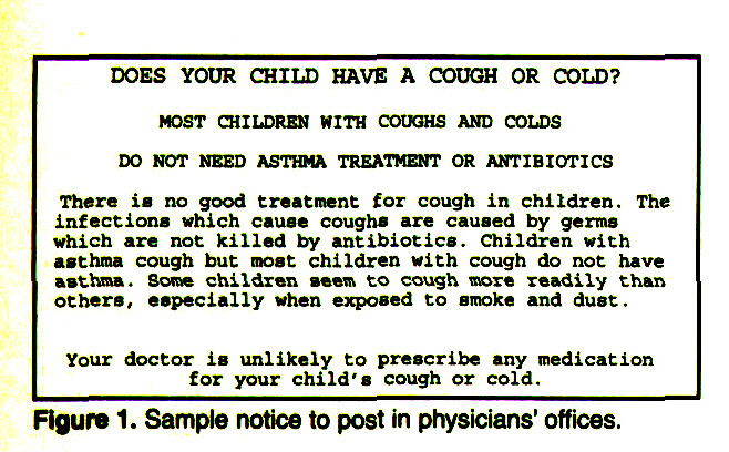 Figure 1. Sample notice to post in physicians' offices.