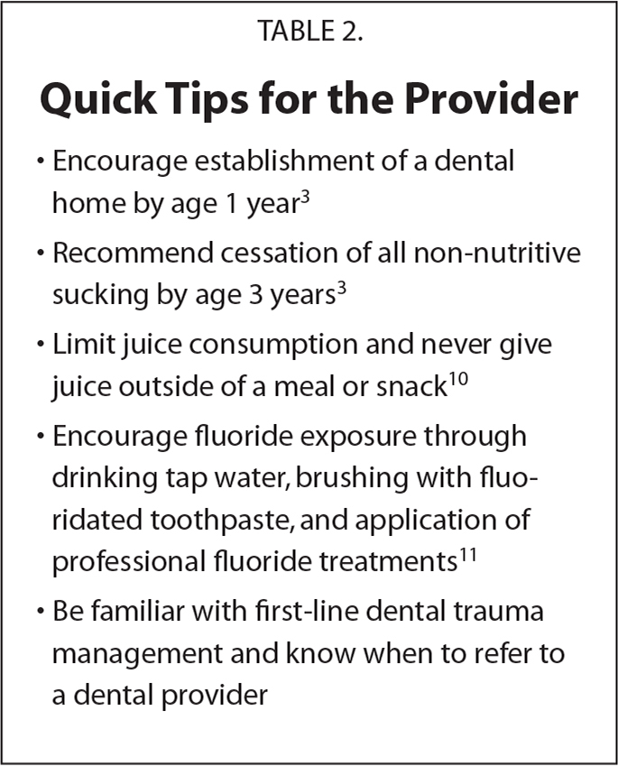 Quick Tips for the Provider