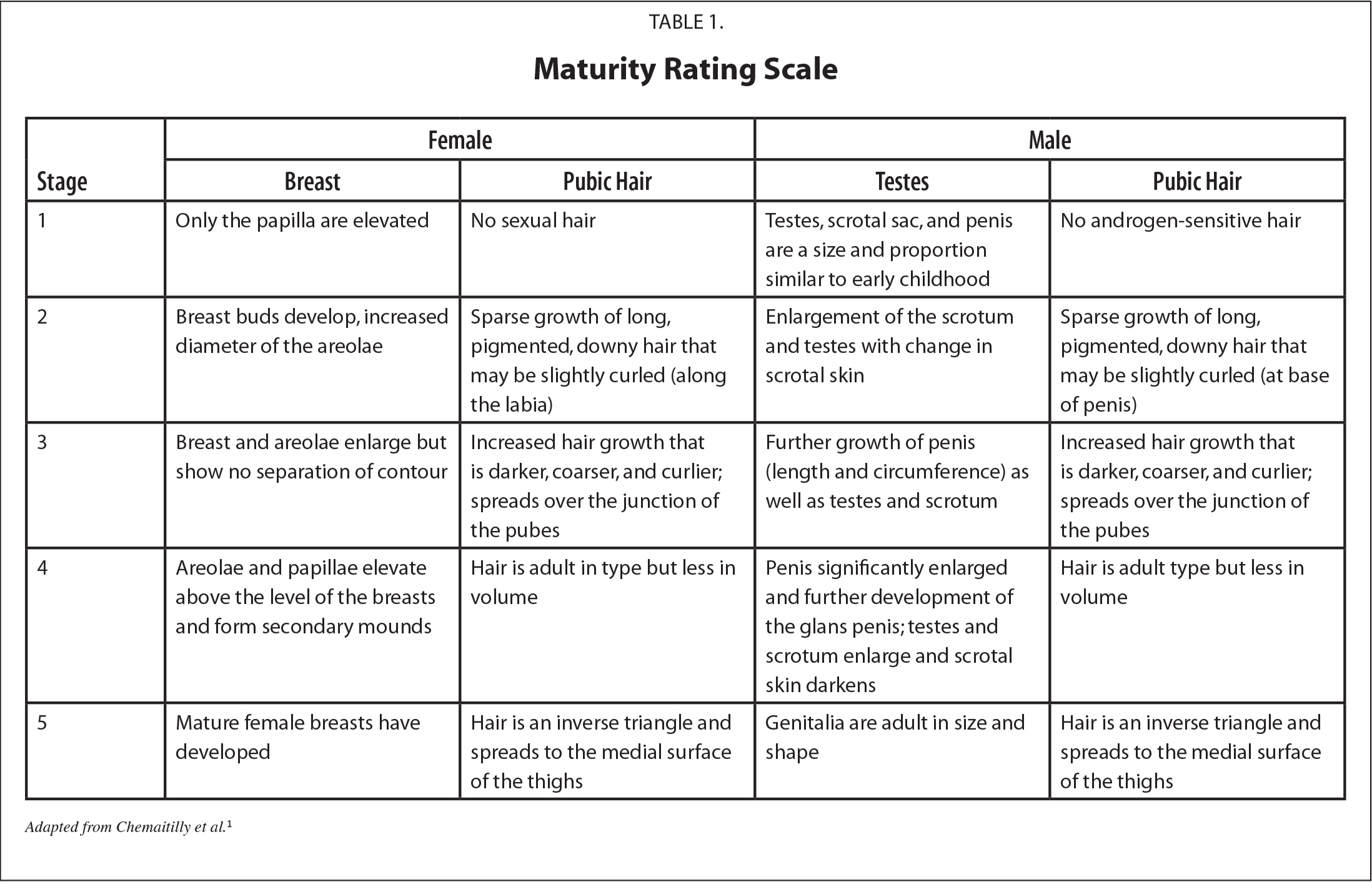 Maturity Rating Scale