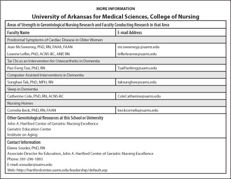 More InformationUniversity of Arkansas for Medical Sciences, College of Nursing