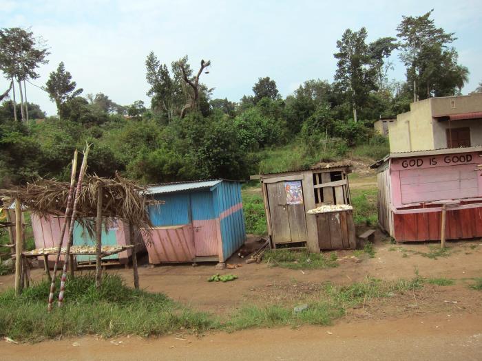 A photo of a Ugandan village