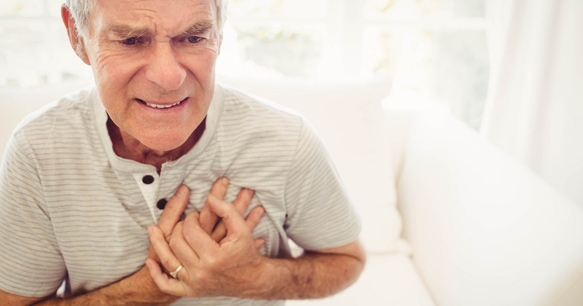 older man with chest pain