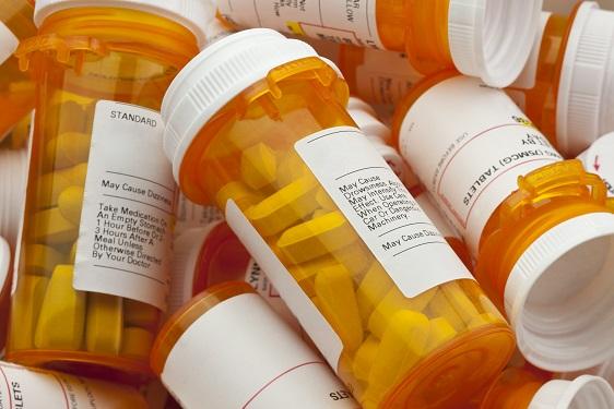 photo of plain pill bottles