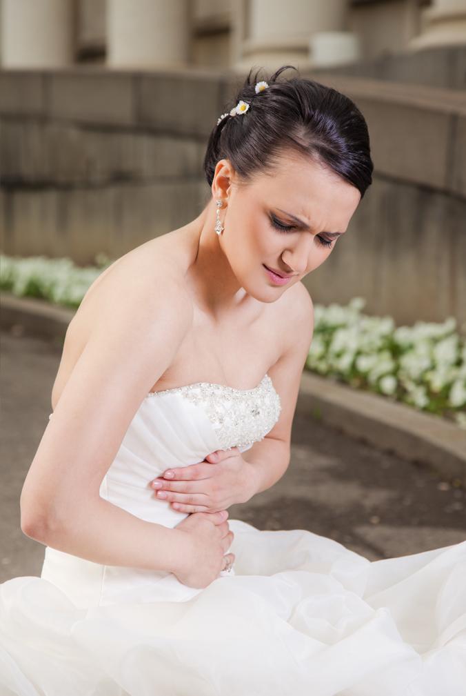 Photo of a sick bride