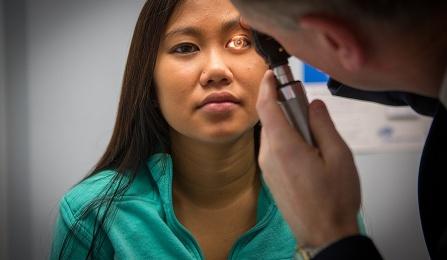 Photo of concussion exam